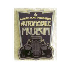 Museum Logo Pin ACD Automobile Museum Auburn, IN