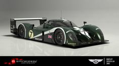 The Bentley Speed 8 was an evolution of the EXP Speed 8, a closed-cockpit LMGTP racer that Bentley had developed in 2001 to accomplish a feat the legendary British marque had not achieved since 1930: an overall win at the 24 Hours of Le Mans. To drive the racer that returned Bentley to winning ways at the Circuit de la Sarthe after a 73-year wait, buy the Bentley Speed 8 on Simraceway today!
