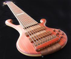 """Adamovic SuperNova 9-string bass - I've never understood the whole """"ironing board bass"""" thing.  Do you really need more than 6 strings?"""