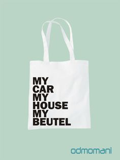 Stofftasche, Jutebeutel mit Spruch // quote tote bag via DaWanda.com