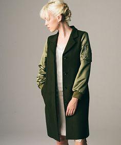 LAYMEE(レイミー)のMinnea chester coat(チェスターコート)|カーキ
