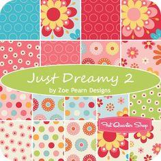 "Just Dreamy 2 2.5"" Rolie PolieZoe Pearn Designs for Riley Blake Designs - Jelly Rolls & 2.5"" Strips   Fat Quarter Shop"