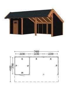 Trendhout | Kapschuur De Heerd 7.4m | Combinatie 4 Gazebo On Deck, Screened Gazebo, Backyard Pavilion, Backyard Gazebo, Backyard Sheds, Backyard Retreat, Carport Sheds, Carport Plans, Barns Sheds