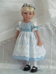 13-Effner-Little-Darling-BJD-fashion-blue-white-OOAK-set-handmade-by-JEC  $76.00