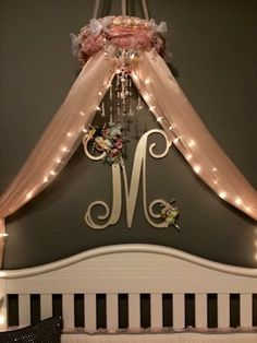 Nursery Crib Canopy - Baby Canopy - Crib Canopy - Bed Canopy - Canopy - Baby Room - Nursery - Nursery Decor - Princess Canopy - Girl Canopy - Home Decor ... & Shabby Chic Canopy-Baby Canopy-Crib Canopy-Bed Canopy-Flower ...