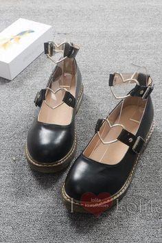 Free Shipping 3 Colors Lolita Kawaii Heart Accessory Shoes LK17040736 Kawaii Shoes, Teen Fashion, Black Shoes, Beautiful Dresses, Oxford Shoes, Dress Shoes, Abs, Free Shipping, Heart