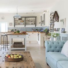 Living room | Take a tour of this coastal barn conversion in Cornwall | housetohome.co.uk #Kitchenlivingrooms