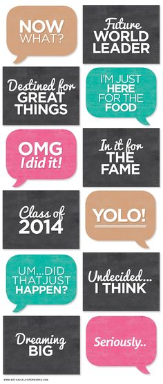 FREE printable Grad Photo Booth Signs