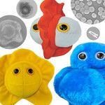 now featured on Fab.plush toys inspired by electron micrographs of real microbes covering calamities like Black Death and Ebola, in addition to buzzkills like pimples and bad breath.