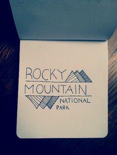 Rocky Mountain | Hand drawn logo design | By Hadley McCammon