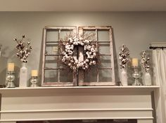 Magnolia Market cotton wreath- HGTV Fixer Upper
