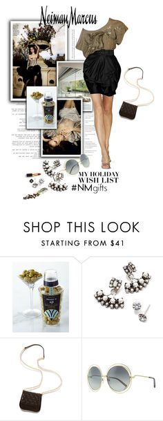 """""""My Neiman Marcus Holiday Wish List"""" by monazor ❤ liked on Polyvore featuring Neiman Marcus, DANNIJO, Gorjana, Chloé, Akris and NMgifts"""