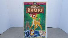 Bambi 55 th Anniversary Fully Restored Limited Edition VHS 1997 Walt Disney