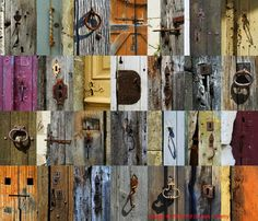 28 French Door and Gate Latches... an assembled collection of many of the latches, handles, knobs, etc. I've spotted in France over the years. Image © 2010 Ed Buziak / Alamy