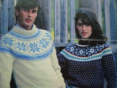 Fair Isle Pullover Sweater Knitting Patterns for Men and Women by Leisure Arts, Sizes: 30. 32, 34, 36, 38, 40, 42, 44, 46 Inches by RedWickerBasket on Etsy