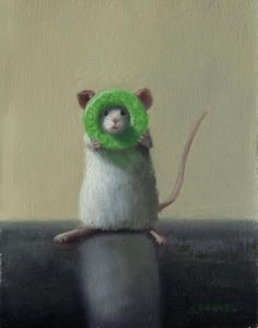 Life Saver , oil on panel, 5 x 4 inches, $600