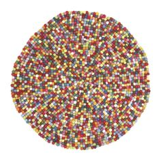 I love this rainbow felt rug. It looks like a giant chocolate freckle :-) It would look good in the redesigned nursery.