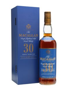 Macallan 30 Year Old - Sherry Oak Scotch Whisky : The Whisky Exchange Good Whiskey, Cigars And Whiskey, Whiskey Bottle, Fun Drinks, Alcoholic Drinks, Beverages, Macallan Whisky, Blended Whisky, Spirit Drink