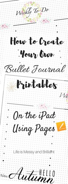 to Create Planner Printables on the iPad Using Pages free bullet journal printable, digital bullet journal, iPad bullet journal free bullet journal printable, digital bullet journal, iPad bullet journal Making A Bullet Journal, How To Bullet Journal, Bullet Journal Junkies, Bullet Journal Layout, Journal Fonts, Free Bullet Journal Printables, Journal Template, Journal Pages Printable, Bujo