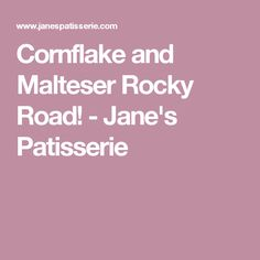 Cornflake and Malteser Rocky Road! - Jane's Patisserie