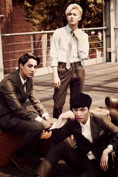 Lay, Kai and Suho