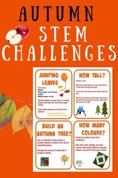Fun autumn STEM challenges for kids of all ages. Make jumping leaves, treasure sticks and lots more autumnal and fall fun #STEM #AutumnSTEM #FallSTEM #Fall STEMChallenges Science Experiments Kids, Science For Kids, Preschool Science, Science Ideas, Autumn Activities For Kids, Stem Activities, Kindergarten Stem, Math Stem, Stem For Kids