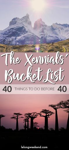 40 Things to do Before 40 - The Xennials' Bucket List 40 Things to do Before 40 – The Ultimate Xennials' Bucket List! 40 Before 40 Bucket List Destinations, Amazing Destinations, Travel Destinations, Places To Travel, Places To See, Wanderlust, Top 5, Travel Alone, Travel List