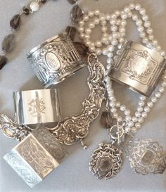Karen Linder Monogrammed Sterling Jewelry~ Beautiful http://shop.artisansilvergifts.com/collections/anniversary-gifts