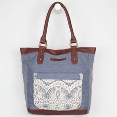 HURLEY Chambray Mix Up Tote Bag 219334800 | Totes & Messenger Bags | Tillys.com