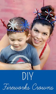 Fireworks Crowns - Inner Child Fun DIY of July Fireworks CrownsDIY of July Fireworks Crowns July Crafts, Summer Crafts, Holiday Crafts, Summer Fun, Holiday Fun, Crafts For Kids, Festive, Daycare Crafts, Patriotic Crafts