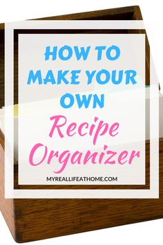 Do you have recipes all over? Struggle to find the recipe you are thinking of? Check out the best recipe organizer I can across. Now I can quickly find any recipe I want. Recipe Organization, Planner Organization, How To Make Your Own Recipe, Organizing Your Home, Organizing Paperwork, Organizing Tips, Some Recipe, Make It Work, Recipe Cards