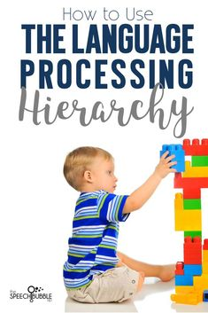 Don't get me wrong I enjoy working on all other speechy things, but language has my heart.  Last year, I was doing some research for my Language Goal List and stumbled across this awesome Language Processing Method Treatment Model handout.  Talk about hea