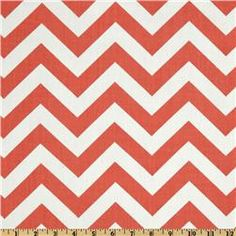 Premier Prints ZigZag Coral/White for living room pillows! :)