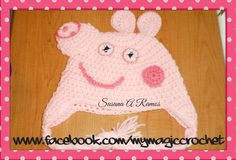 Peppa Pig Crochet Hat https://www.etsy.com/your/shops/MyMagicCrochetUS