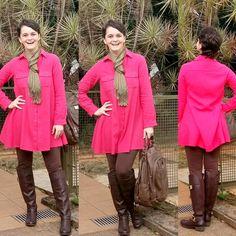 LEILA DINIZ advogada blogueira youtuber: #LOOK vestido modelo camisa manga longa + legging ...