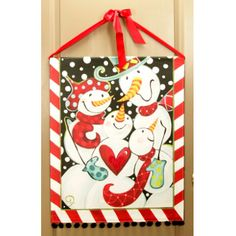 lisa frost collection | Snowman Family Banner By Lisa Frost -