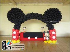 como hacer decoracion de globos de minnie - Buscar con Google