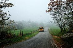 Harris Road in Pike County, Ohio. Bus is from Piketon school. School Bus Pictures, Set You Free, Shades Of Yellow, Great Photos, Paths, Back To School, Country Roads, Journey, Photo And Video