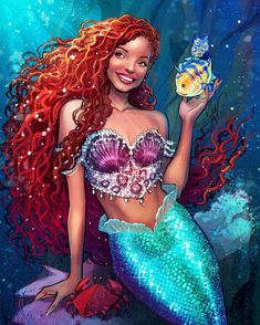 """""""After the stigma that locs have been associated with for years little black girls might get to see a whole disney princess with one. This is a reason why I want halle to keep them for the little mermaid movie also locs look better unda da sea. Black Girl Art, Black Women Art, Black Girl Magic, Art Girl, Black Art, Black Girls, Black Mermaid, Mermaid Art, The Little Mermaid"""