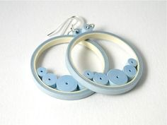 Blue Quilled Paper Jewelry / Circle Dangle por SimplyQuilledDesigns