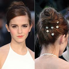 15 Star-Inspired Hairstyles for Prom - Emma Watson's Hair Gems from #InStyle I love how easy but pretty it is!