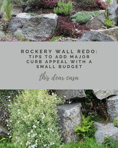 Rockery Wall Transformation – This Dear Casa Rockery Garden, Garden Paths, Garden Projects, Garden Ideas, Flower Garden Borders, Path Edging, Get Outdoors, Garden Inspiration, Backyard Landscaping
