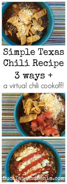 Easy texas chili recipes
