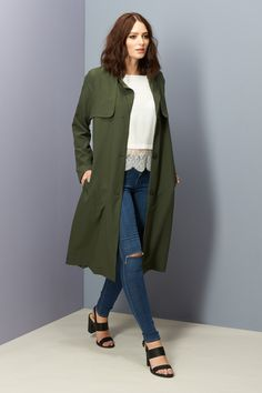 Poppy Lux Willette Duster Trench Coat Image