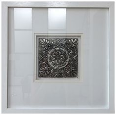 One of a set of four framed pewter designs by Yvonne Botha, www.facebook.com/mimmicgalleryandstudio www.mimmic.co.za