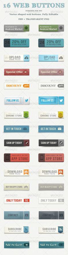 Retro Vintage Web Buttons