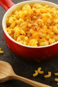 Macaroni with Four Cheeses (Cuisnart Slow Cooker Book).  Hand's down the best, I take it to work and it's gone! Everyone loves it, total comfort food.  Oh and 463 calories a cup, for those who care (I do!)