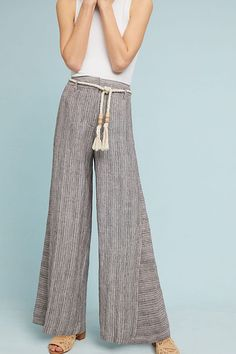 4271fcb4668 Slide View  3  Striped Linen Wide-Leg Pants Wide Leg Pants