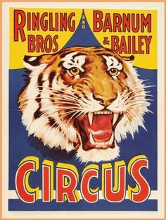 Vintage Circus c1930's RINGLING BROS & BARNUM & BAILEY Reproduction Poster on 200gsm A3 Satin (low gloss) Art Card:Amazon.co.uk:Kitchen & Home