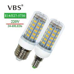 E27 E14 Led Bulbs Corn Lights SMD5730 220V 24 36 48 56 69leds LED Corn Bulb Lamp Christmas Lampada LED Spotlight Indoor Lighting
